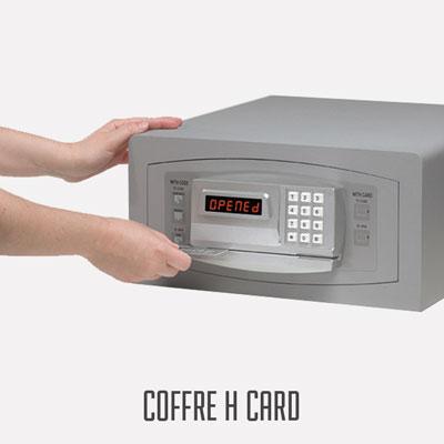 Coffre Hotel gamme H-CARD